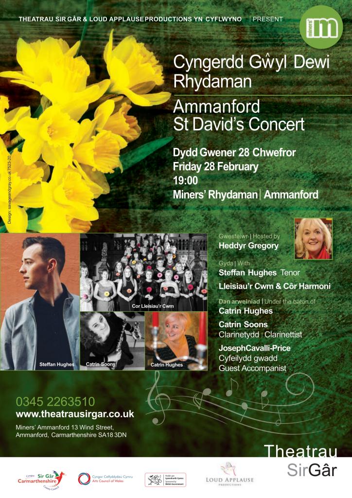 St David's Celebration Concert - Miners Ammanford Poster